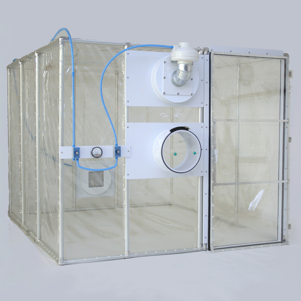 Flexible film containment unit.