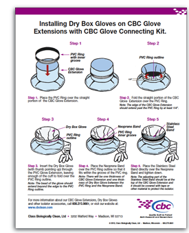 Click to download CBC Glove Extensions Glove Connecting Kit instructions.