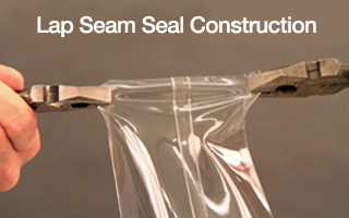 CBC Lap seam seal manufacturing process is more durable then single seam designs.