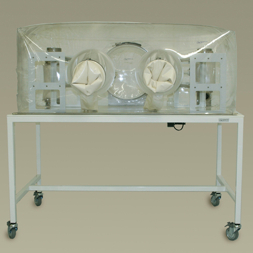 flexible film single-tier, gnotobiotic isolator system.
